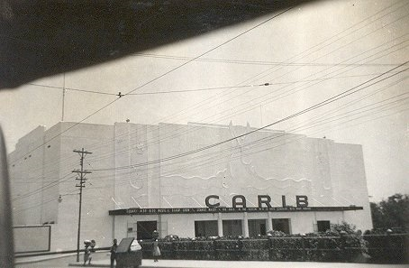 A photo of the Carib Theatre taken around 1943.