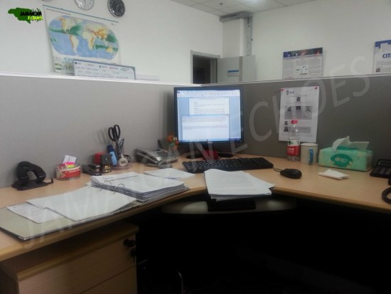 This is a snapshot of my desk in my Beijing, China office. What's missing?