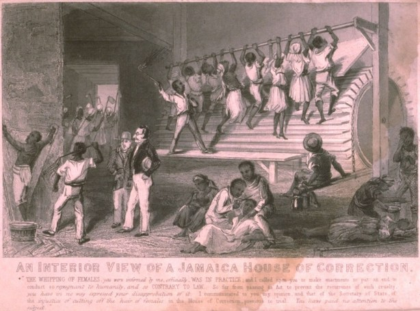 Treadmill, Jamaica, 1837 ; Image Reference NW0196, as shown on www.slaveryimages.org, compiled by Jerome Handler and Michael Tuite, and sponsored by the Virginia Foundation for the Humanities and the University of Virginia Library.
