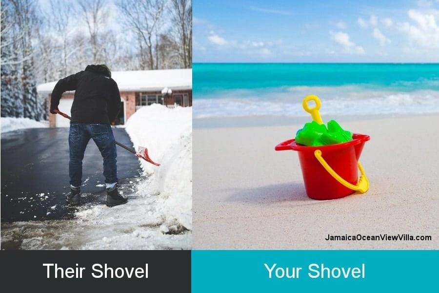 snow shovels vs. sand shovels