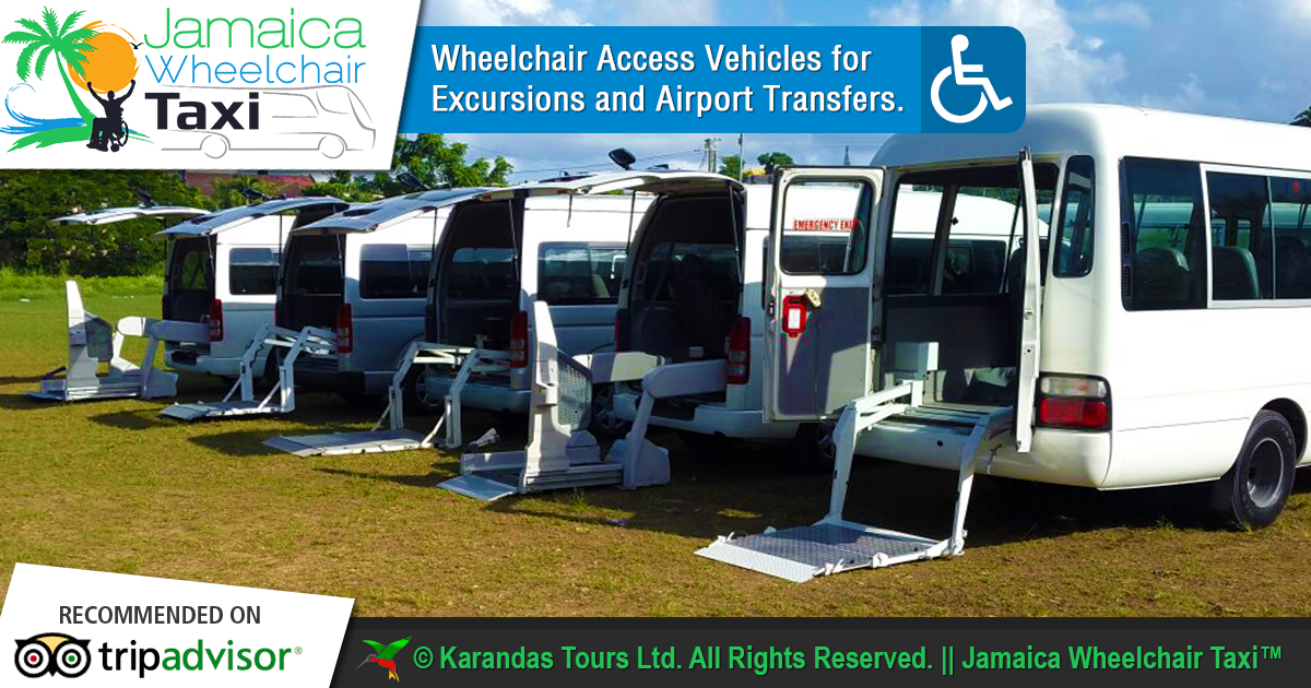 Jamaica Wheelchair Taxi | transport for wheelchair passengers | jamaicawheelchairtaxi.com | Karandas Tours