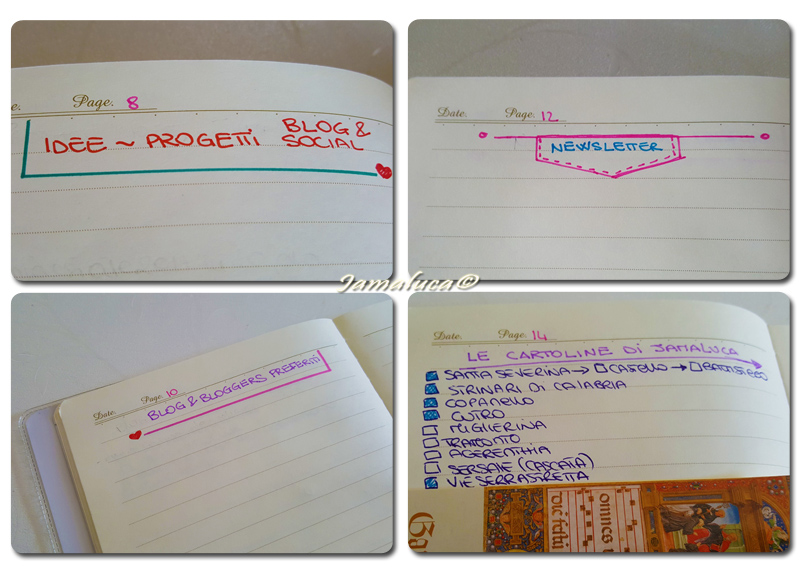 Bullet Journal per blogger
