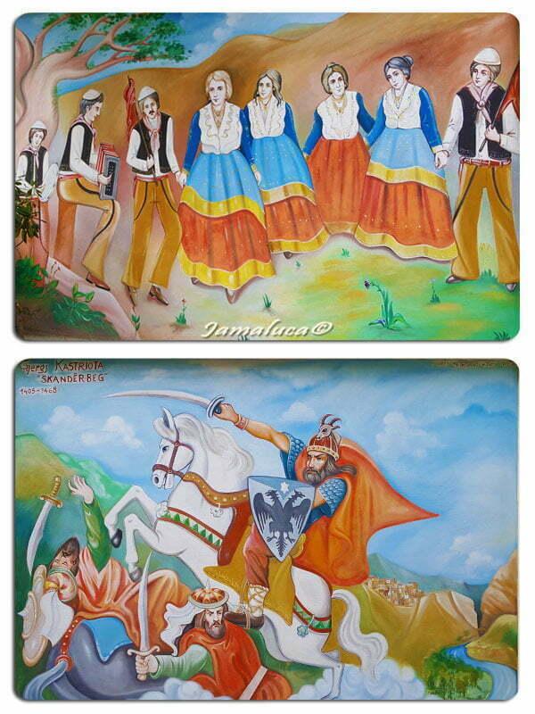 Civita - Murales sulle Vallje
