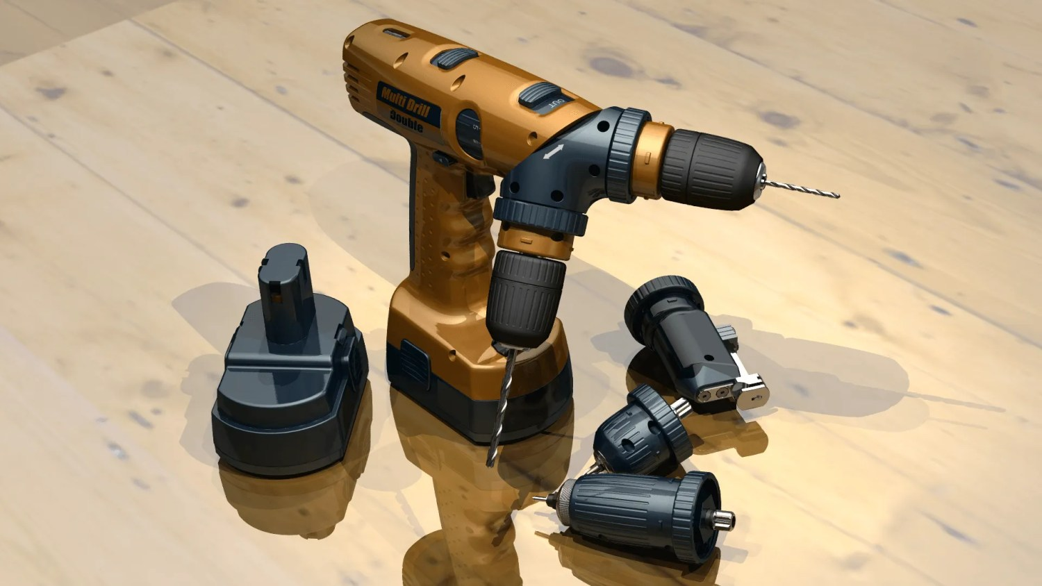 Multi Drill & Accessories - CAD Modelling