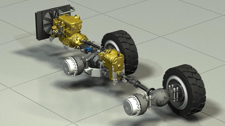 Mining Truck Drivetrain - CAD Modelling