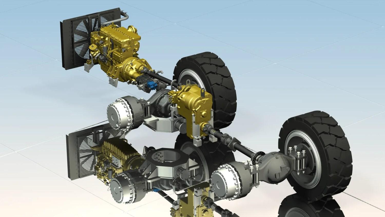Mining Truck Drivetrain - Cylinder Head - Cad Modelling
