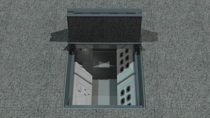 Oruga Floor Box open