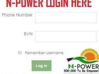 Npower Portal 2018/2019 Registration Form - www.npower.gov.ng login | www.npower-gov.com.ng