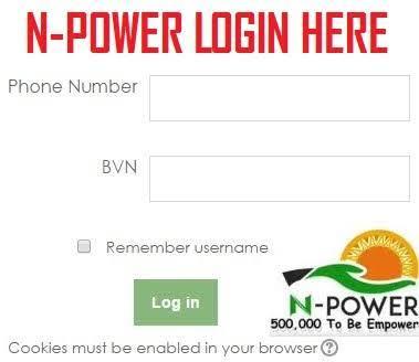 Npower Portal 2019/2020 Registration Form - www npower gov