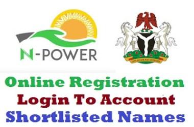 Npower Portal 2019/2020 Registration Form - www.npower.gov.ng login   www.npower-gov.com.ng