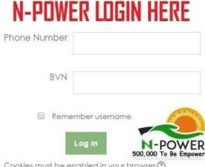 Npower Portal Registration Form 2020/2021- www.npower.gov.ng login