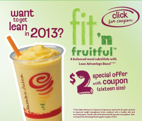 Want to get lean in 2013? $2 Fit 'n Fruitful w coupon (click here).