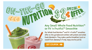 $2 Special Offer: On-the-Go Nutrition