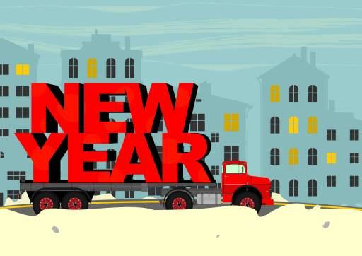 New year truck