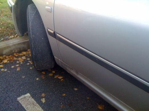 bald passenger tire