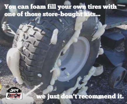 foam filling gone wrong