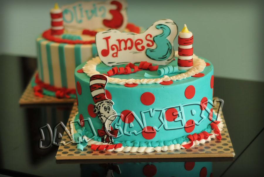 Dr Seuss Party For Twins 1 J A M Cakery