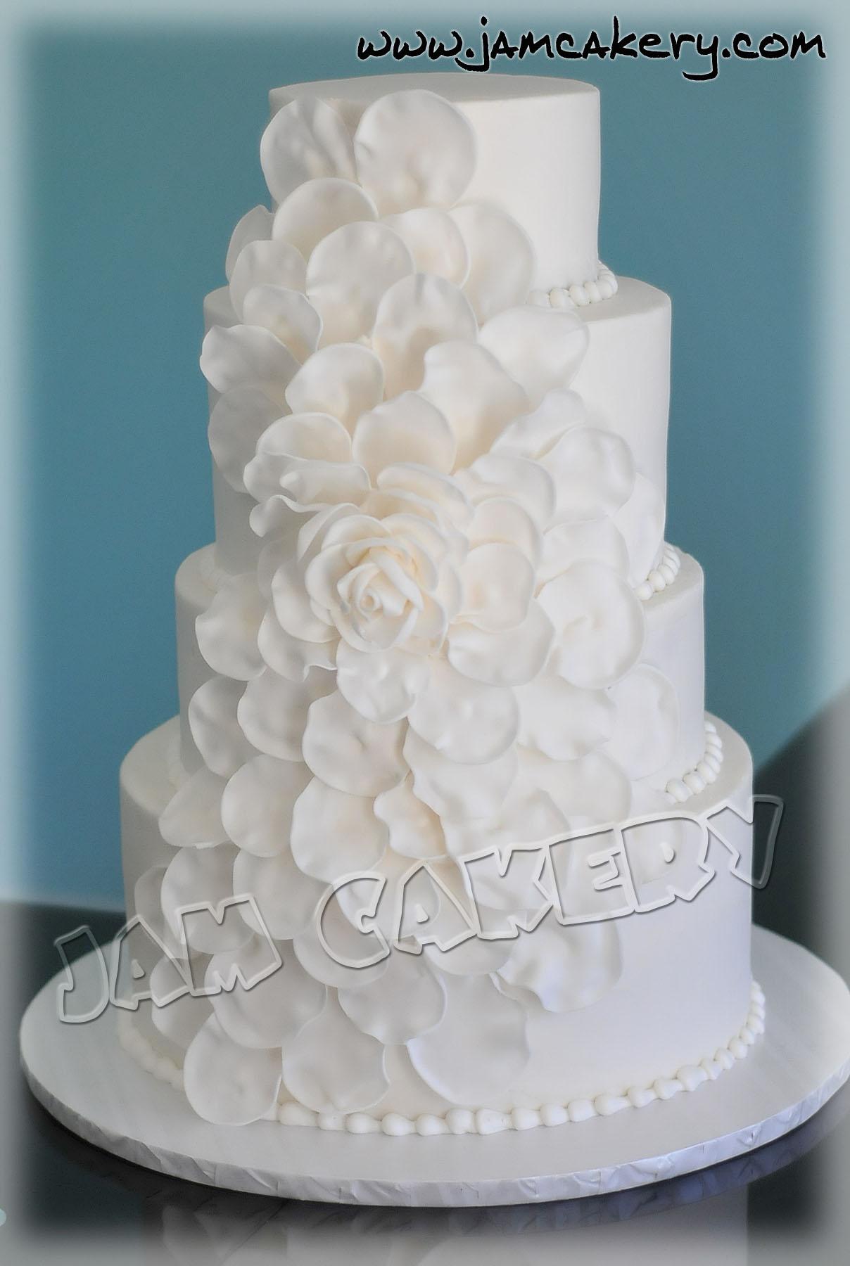 Petal Wedding Cake J A M Cakery