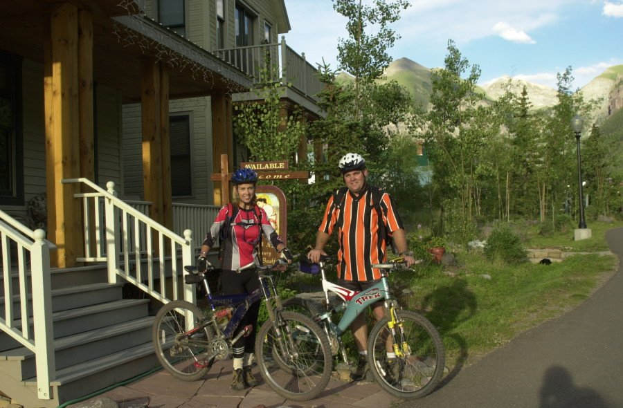 Kay and I loved to Jeep and to mountain bike, so took a Jeep trip with our mountain bikes in 2000 to one of our favorite destinations, Telluride, Colorado.