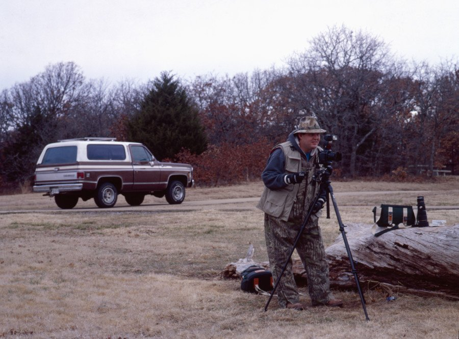 I started taking photos in 1996 with a film camera. I did a lot of wildlife photos to go along with my outdoor hunting passion. This was our old Chevy Blazer in the background. This photo was probably around 2001 timeframe.