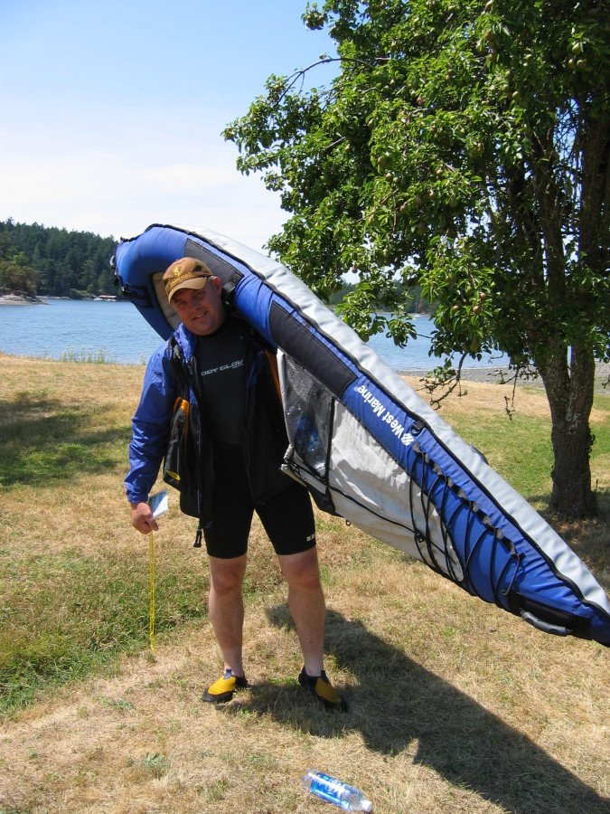 Disaster. That is all I can say. Inflatable kayak in San Juan Islands on a windy day. Does. Not. Work. Ask Kay or I to tell you this funny story. It is funnier if we tell it together.