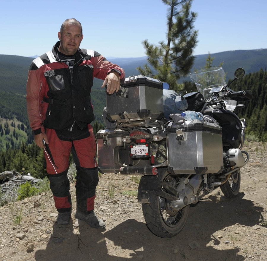 In 2010 I made a couple of trips to California on my BMW R1200GS Adventure. I took this picture in western Oregon on the way to a BMW MOA rally in Bend, OR.