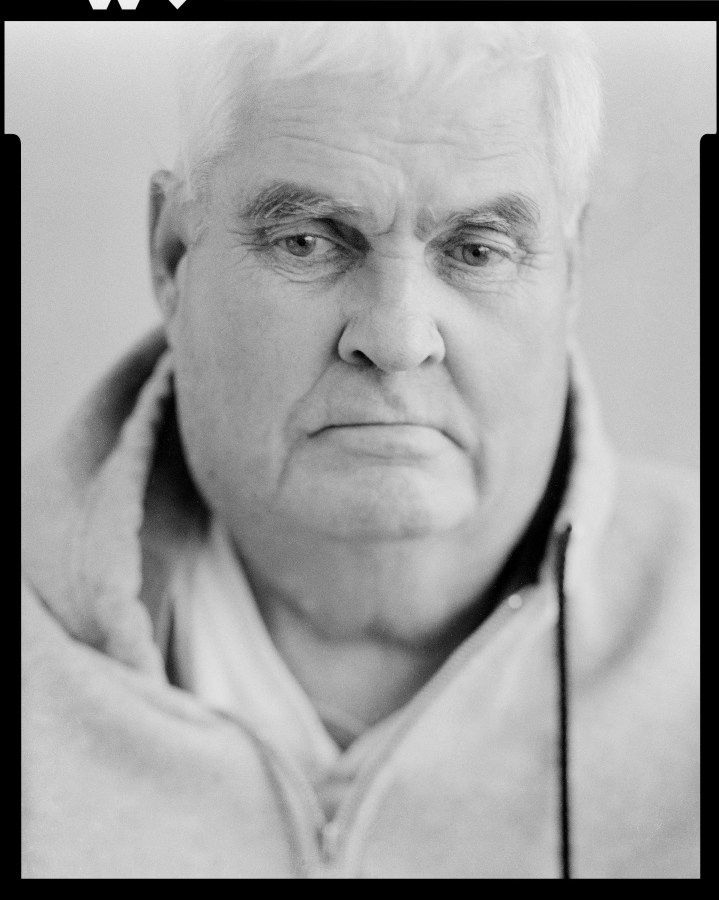 I shot this large format film photo of my now deceased father 15 months ago and just now developed it 7 months after he passed away.