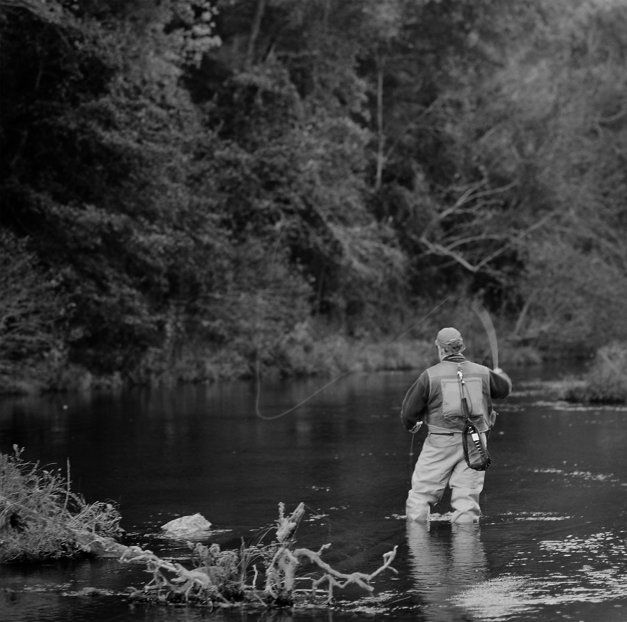 Fly fishing on the Lower Mountain Fork River below the Broken Bow dam.