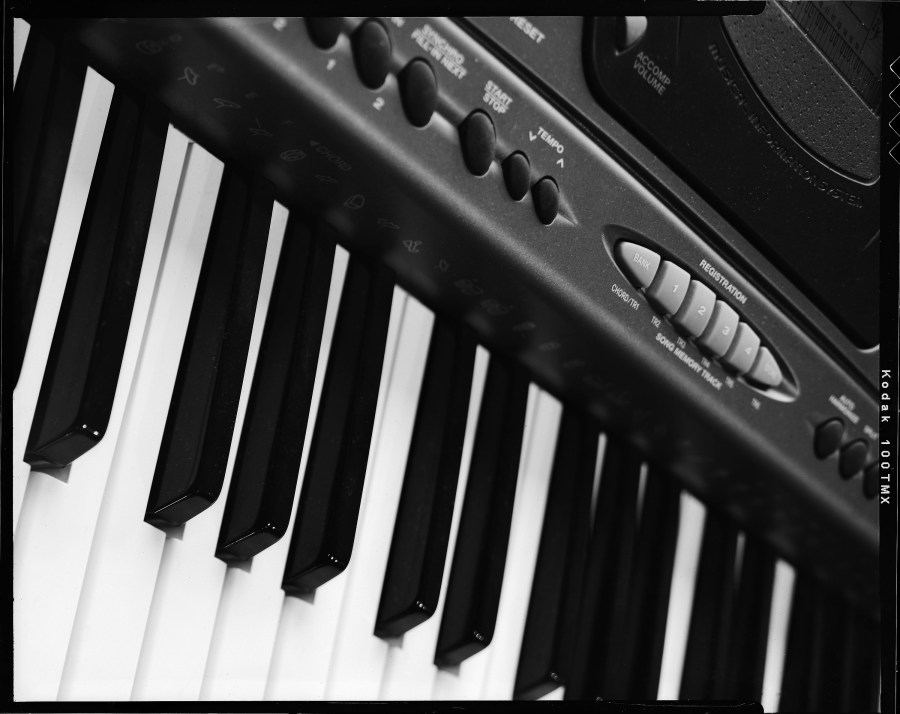 A simple shot of a piano keyboard to test my skills as a product photographer in Oklahoma.
