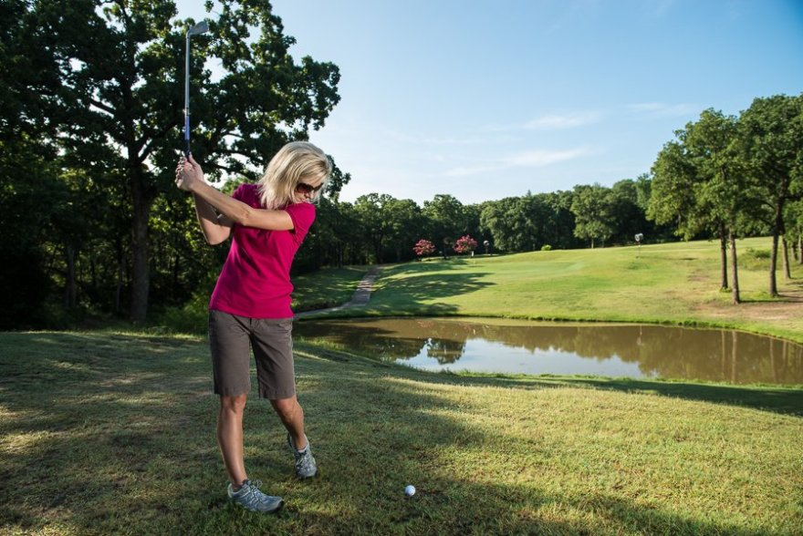 Women love to play golf at Lake Murray State Park.