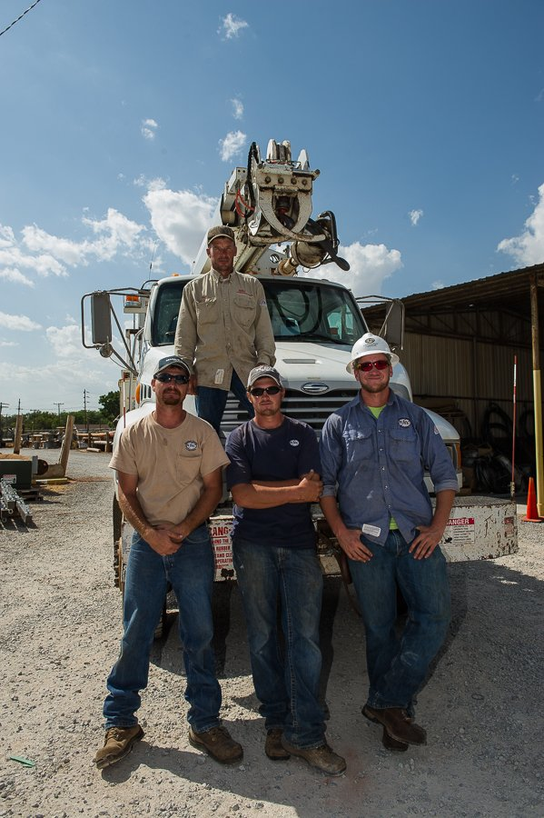 The lineman crew I spent the day with at Northfork Electric Cooperative.