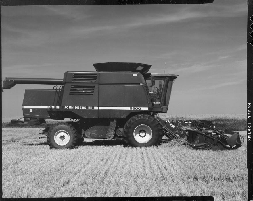 1997 John Deere  Model 9600 combine at wheat harvest in northern Oklahoma.