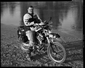 Steven Marshall rides his Kawasaki KLX-250 at Bill Dragoo's Adventure Training course