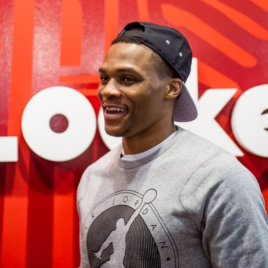 OKC Thunder star player OKC Thunder Russell Westbrook always seems to have a smile on his face.