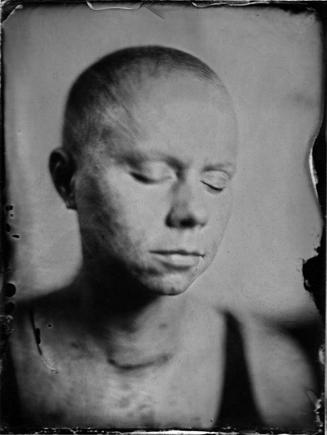 Mark's wife was diagnosed with cancer and he did a wet plate collodion series of her as she struggled through treatment.