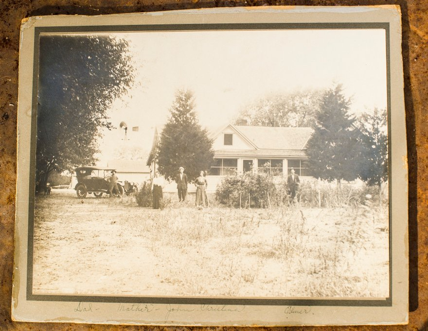 This is a picture of the original Plett home west of Okarche, and the same home Perry and Jennifer Plett live in today.
