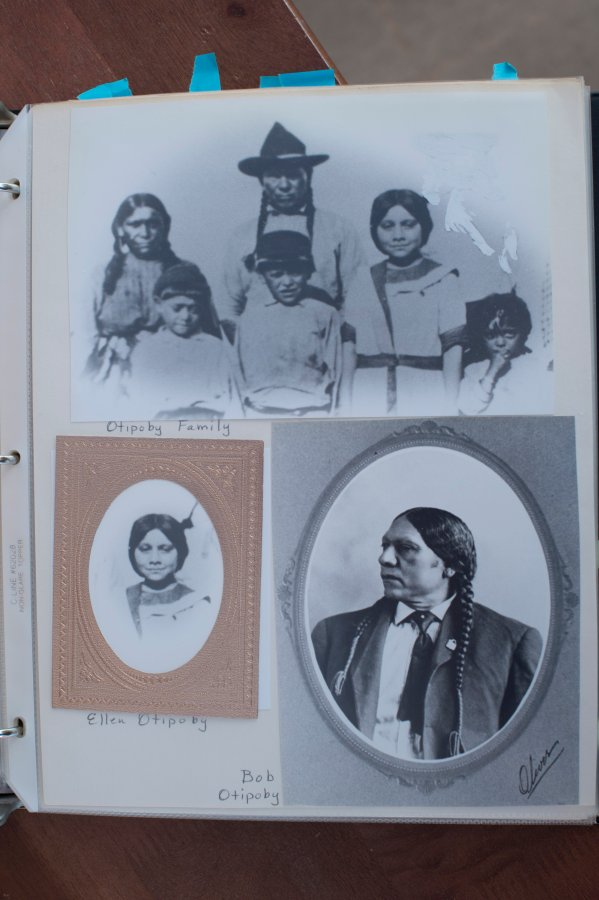 Historical pictures assembled by Barbara Goodin to track family.