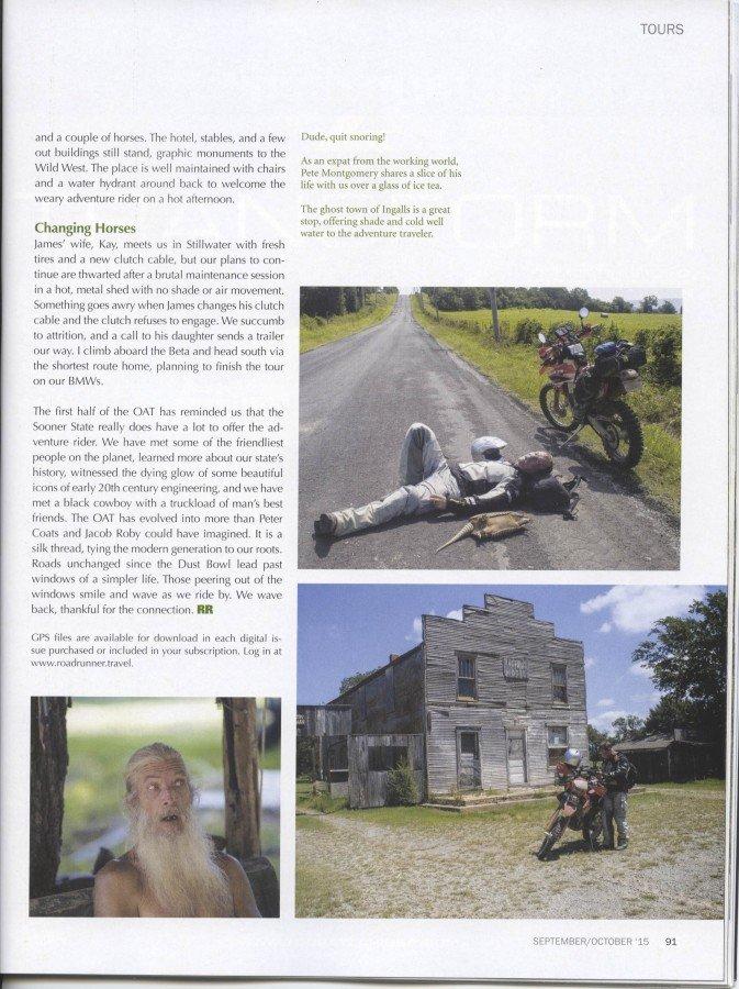 Roadrunner Magazine - OAT Story Page 10