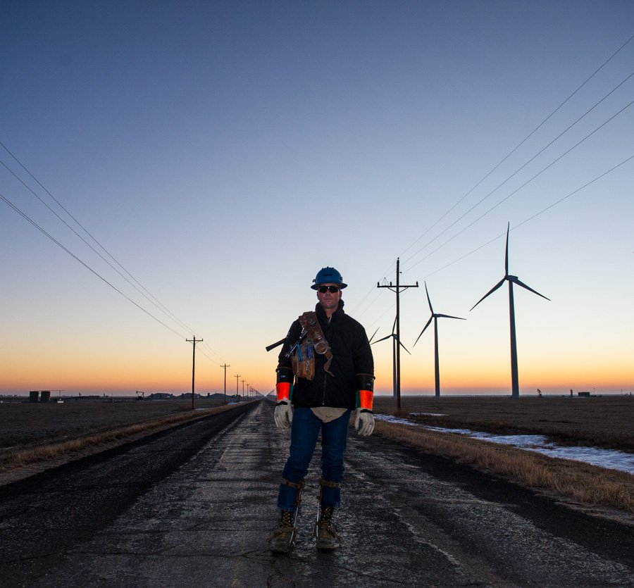 Electrical lineman for Tri-County Electric Coop TCEC
