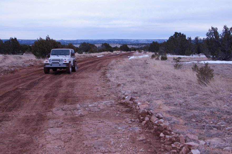 The roads kept getting smaller and smaller.