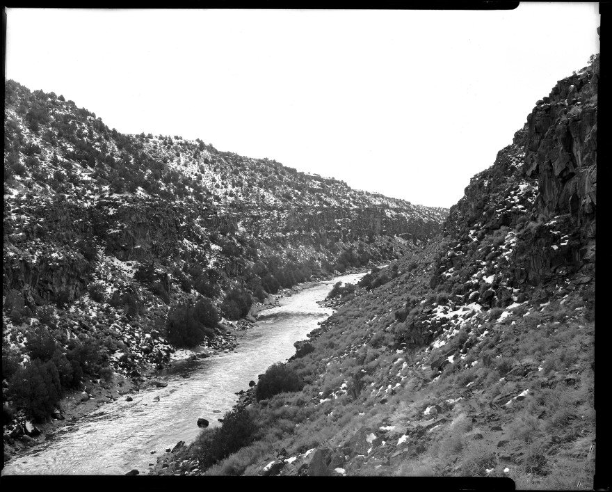 Image 100 of my 4x5x365 project of shooting 365 images on 4x5 film. This image is of the Rio Grande River just west of Arroyo Hondo, New Mexico.