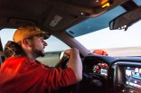 Vance Fielder driving to South Dakota for pheasant hunting in his 2015 Chevrolet Silverado pickup truck