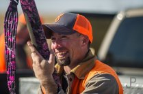 Eric Orsburn smiles after a successful hunt with Norm Lippert.