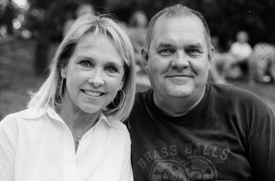 I handed my camera to Garland so he could capture Kay and my picture while at a concert in Hafer Park.