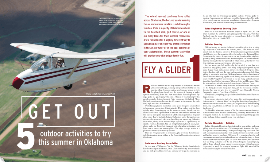I have over 5,000 hours in a small airplane. I photographed this near Hinton while working on a story about gliders in Oklahoma. Of course I also wrote the story.