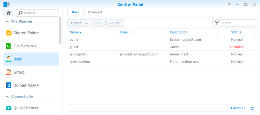 Per advice from Synology, I set up a user login just for Time Machine on my main computer. I then set a quote of 3TB for this user. That way Time Machine will prune old data once the backup quota is used.