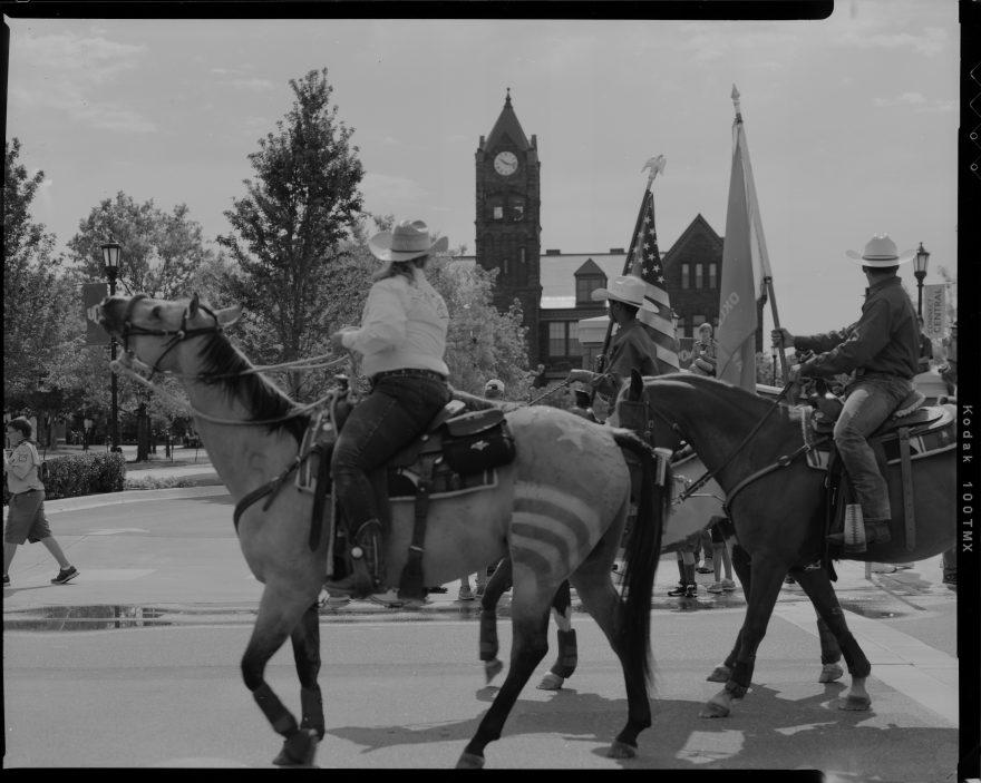 Edmond Liberty Fest Parade 2017 photographed with Toyo VX-125 4x5 film camera on Kodak TMAX-100 film