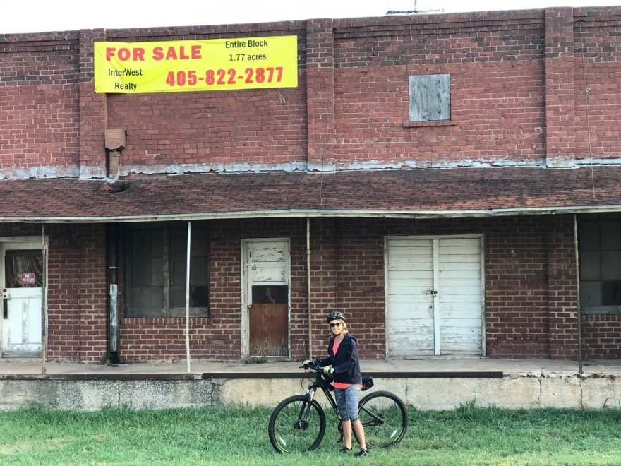 Kay and I rode our bicycles to downtown Edmond. We ran across this building that we were unfamiliar with.