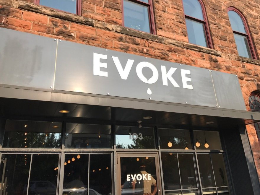 Evoke is a nice coffee shop in downtown Edmond. We usually go to Java Dave's down the street but occasionally will stop at Evoke.