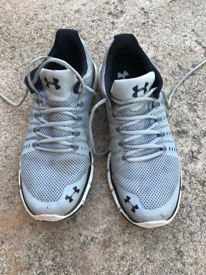 Under Armour Micro-G running shoes with 250 miles running on them